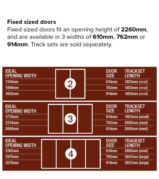 Fixed sized doors